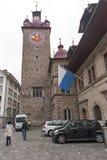 LUCERNA SZWAJCARIA, PAŹDZIERNIK, - 28, 2015: Zadziwiający widok stary miasteczko lucerna Fotografia Royalty Free