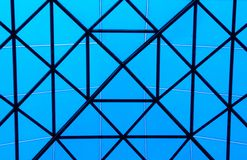 Lucernario blu Fotografia Stock