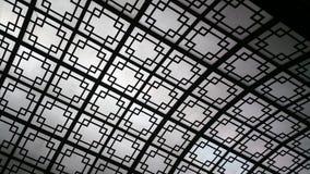 Lucernario decorativo con progettazione geometrica immagini stock