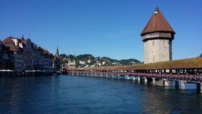 Lucerne's教堂桥梁 免版税库存照片