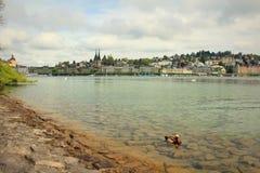 Lucerne湖视图瑞士 免版税库存图片