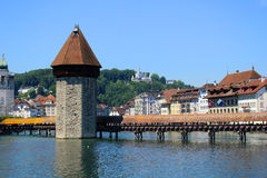 lucerne Швейцария молельни моста Стоковая Фотография RF
