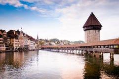 lucerne Швейцария молельни моста Стоковые Изображения RF