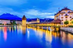 lucerne Швейцария Стоковые Изображения RF