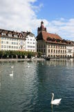 Lucerne. A view of the old town sections of Lucerne, Switzerland Royalty Free Stock Photography