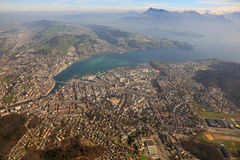 Lucerne Alps panorama overview mountains Luzern Switzerland town Stock Images