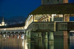 Lucerne, the Chapel Bridge Stock Photography