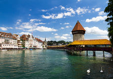 Lucerne Chapel Bridge Royalty Free Stock Image
