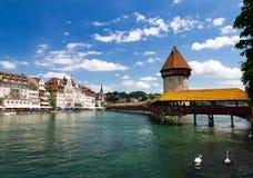 Lucerne Chapel Bridge. Chapel Bridge over the river Reuss in Lucerne, Switzerland Royalty Free Stock Image