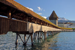 Lucerne Chapel bridge. Stock Image