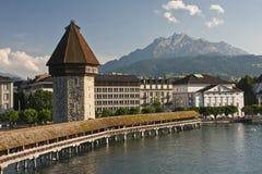 Lucerne, the Chapel Bridge Royalty Free Stock Photos