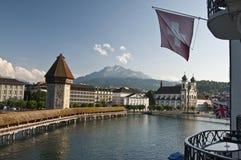 Lucerne, the Chapel Bridge Royalty Free Stock Photography