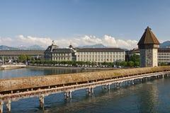 Lucerne, the Chapel Bridge Royalty Free Stock Image