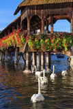 Lucerne, the Chapel Bridge Royalty Free Stock Image