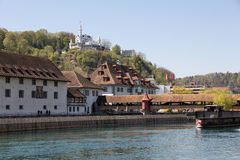 Lucerne with Chateau Gütsch Royalty Free Stock Photography