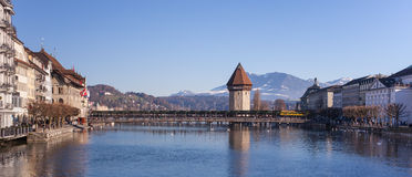 Lucerne cityscape royaltyfri fotografi