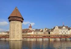 Lucerne cityscape Fotografering för Bildbyråer