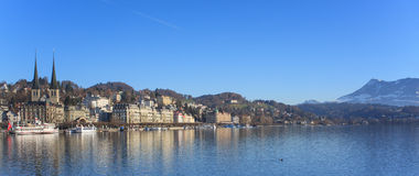 Lucerne cityscape Royalty Free Stock Images