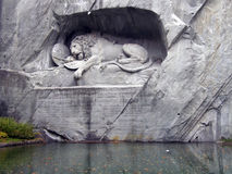 Lucerne: dying lion monument Stock Photography
