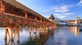 Lucerne, early morning Royalty Free Stock Photography