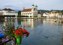 Lucerne at evening Stock Image