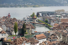 Lucerne, general view towards old town Stock Image