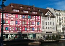 Lucerne huvudstad av kantonen av Lucerne, centrala Schweiz, Europa Royaltyfria Bilder