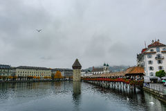 Lucerne i regnig dag Royaltyfri Bild