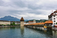 Lucerne i Schweiz Royaltyfria Bilder