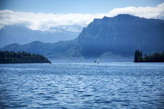 Lucerne. An impressive shot of the lake of four cantons at dawn Royalty Free Stock Image