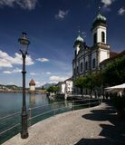 Lucerne Jesuit Church Stock Images