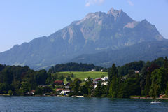 Lucerne lake and Alps mountains Royalty Free Stock Photo