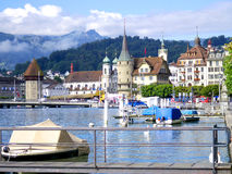 Lucerne lake and castle Stock Photography