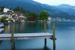 Lucerne lake dusk Royalty Free Stock Photos