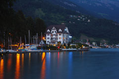 Lucerne lake night Royalty Free Stock Photo