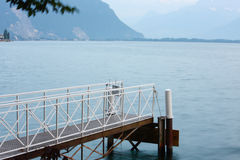 Lucerne lake pier Stock Photography
