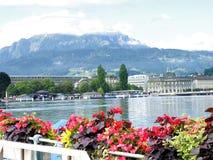 Lucerne lake scene Stock Images