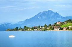 Lucerne Lake, Switzerland. Lucerne Lake by Kussnacht, Switzerland royalty free stock photo