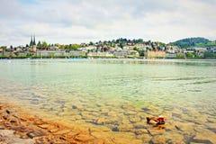 Lucerne lake view Switzerland Royalty Free Stock Image