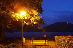 Lucerne lakeside night Stock Image