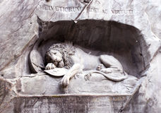 Lucerne. Lion Monument Royalty Free Stock Images