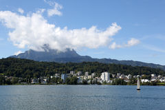 Lucerne and Mt. Pilatus Royalty Free Stock Images