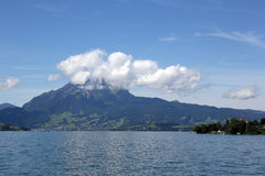 Lucerne and Mt. Pilatus Stock Image