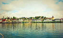 Lucerne Old Town skyline Switzerland Royalty Free Stock Photography