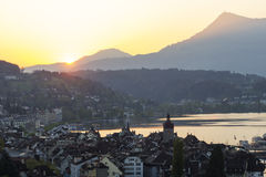 Lucerne old town in Switzerland Royalty Free Stock Images