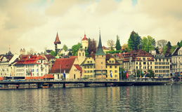 Lucerne Old Town Switzerland Royalty Free Stock Image