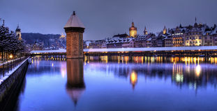 Lucerne panorâmico, Switzerland Fotos de Stock Royalty Free