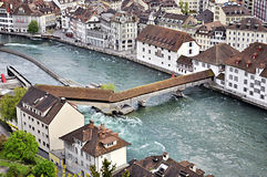 Lucerne panoramic, Switzerland Stock Image