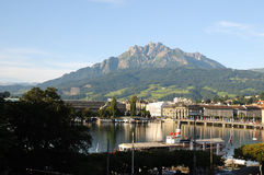 Lucerne and Pilatus Stock Photography