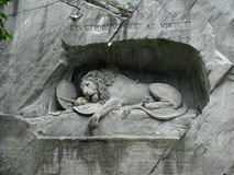 Lucerne's Lion Monument, Switzerland Stock Photos